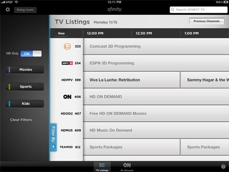 Comcast Xfinity iPad App is Amazing - Barbs Connected World