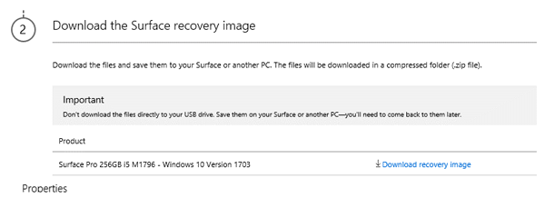 windows 10 surface pro 3 recovery image download