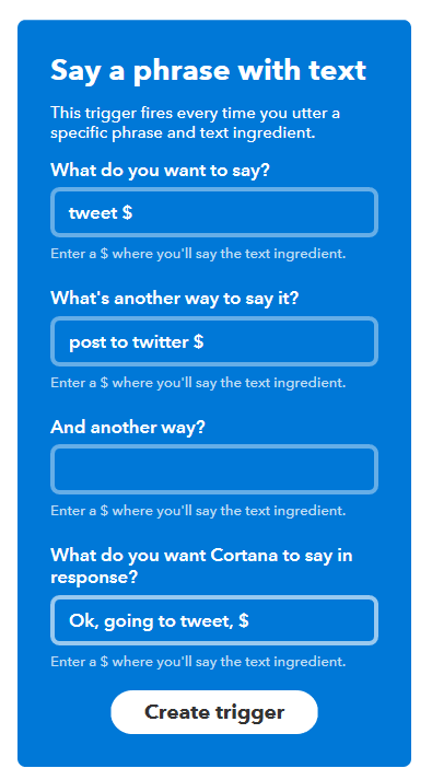 Cortana, IFTTT, Invoke all together now - Barbs Connected World